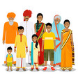 family and social concept indian person vector image