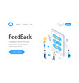feedback or rating isometric concept vector image vector image