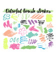floral brush strokes vector image vector image