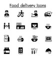food delivery icons set graphic design vector image