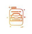 fuel can gas can car icon design vector image
