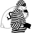 funny fat thief vector image