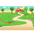 funny landscape with farm vector image vector image