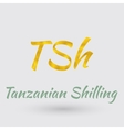 Golden Symbol of Tanzanian Shilling vector image vector image