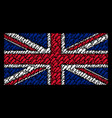 great britain flag mosaic of boot footprint icons vector image vector image
