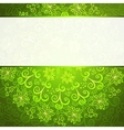 Green abstract floral ornament background vector image vector image