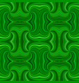 green seamless psychedelic geometrcial spiral vector image vector image