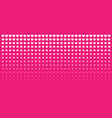 halftone pink hearts gradient background vector image