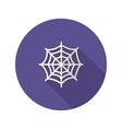halloween spiderweb flat icon vector image