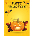 Happy Halloween poster bright color vector image