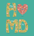 happy mother day folk letters with pearl collars vector image vector image