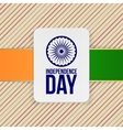india independence day holiday label template vector image vector image