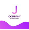 j company logo design with purple theme vector image vector image
