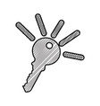 key door isolated icon vector image vector image