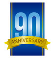 label for 90th anniversary vector image