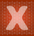 letter x sign design template element vector image vector image