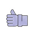 like thumb up symbol vector image vector image