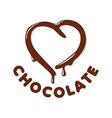 Logo chocolate in a heart shape