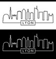 lyon skyline linear style editable file vector image vector image