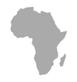Map of Africa vector image vector image