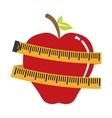measuring tape diet icon image vector image