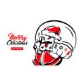 merry x-mas santa claus card 2018 vector image