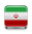 Metal icon of Iran vector image vector image