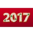 New Year 2017 in shape of gingerbread number as vector image vector image