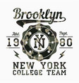 new york brooklyn camouflage t-shirt typography vector image vector image