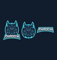 Ninja esport gaming mascot logo template for