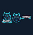 ninja esport gaming mascot logo template vector image vector image