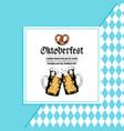 oktoberfest flyer beer festival poster vector image vector image