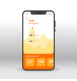 orange daily fitness gym progress ui ux gui vector image vector image