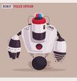 police drone robot patrol cop vector image vector image