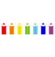 rainbow color pencil icon set line back to school vector image vector image
