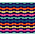 Seamless colorful wave pattern vector image
