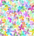 Seamless pattern of colored butterflies on white vector image vector image