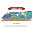 SET icons tourism vector image vector image