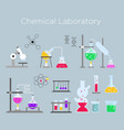 set of chemical laboratory vector image vector image