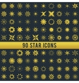 Set of vintage golden star vector image vector image