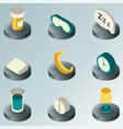 sleep color isometric icons vector image vector image