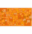 squares in various shades of orange background vector image vector image
