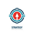 strategy business logo tempate design arrow vector image vector image