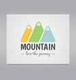 Summer mountain badge and outdoor logo emblem vector image vector image