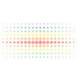 target bullseye spectral halftone array vector image vector image