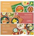 Thai food web bannerThai street food coupon vector image vector image