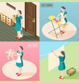 tortured housewife 2x2 design concept vector image vector image