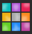 trendy abstract halftone effect texture set vector image