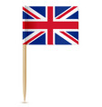 united kingdom flag toothpick vector image