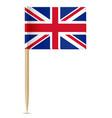 united kingdom flag toothpick vector image vector image